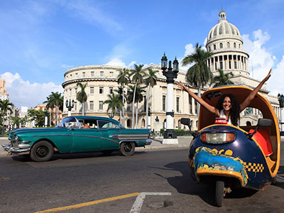 Fun vehicle in Havana at Cuba