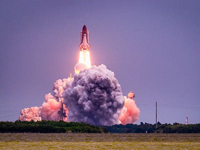 Fusée spatiale au Cap Canaveral en Floride